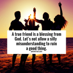QOTD: A True Friend Is A Blessing From God.