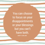 Overcoming Life's Disappointments.