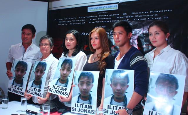 Casts of the movie 'Burgos' call for surfacing of Jonas Burgos (Photo by Ronalyn V. Olea / Bulatlat.com)