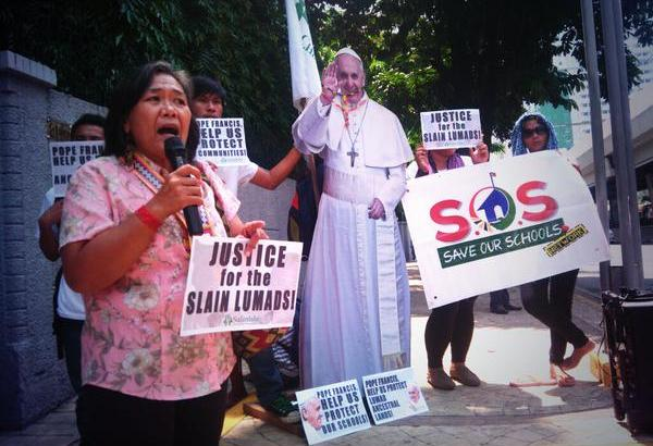 Lumad ask Pope Francis for help