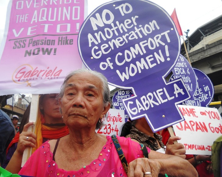 Narcisa Claveria, 85, was one of the comfort women belonging to Lila Pilipina. (Photo by A. Umil/ Bulatlat)