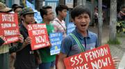 'Duterte is doing an Aquino' | Youth groups protest impending veto of SSS pension hike
