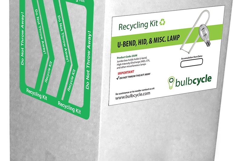 U-Bend, HID, & Misc. Lamp Disposal Container Jumbo