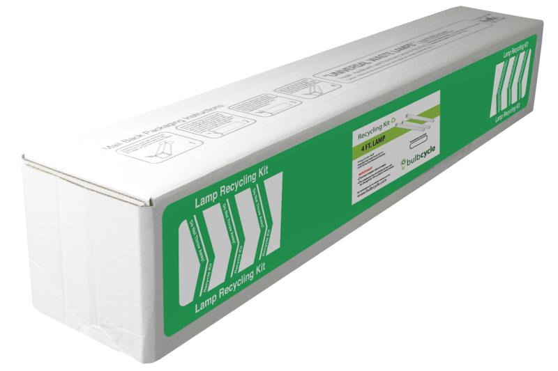 BulbCycle 4 foot fluorescent bulb disposal kit jumbo label