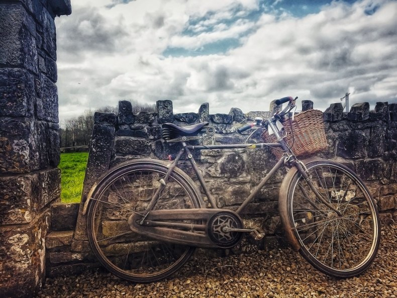 High Nelly Bike at Aughmacart Church