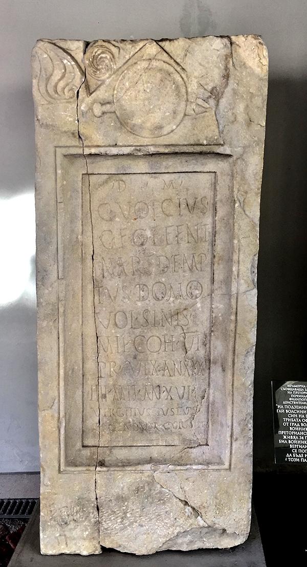 Pretoriaanisotilaan hautakivi - Plovdiv