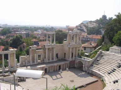 The Roman Amphitheater in Plovdiv.