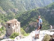 On the hike down to the Assenova Church.