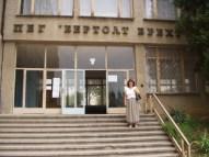 Language High School Bertolt Brecht, Vania on the steps.