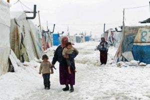 PHOTO: ABC News A Syrian refugee at a camp in Lebanon's Bekaa Valley. (Reuters: Mohamed Azakir)