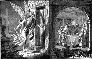 Picture from Wikimedia Commons, 640px-Foster_Bible_Pictures_0062-1_The_Angel_of_Death_and_the_First_Passover