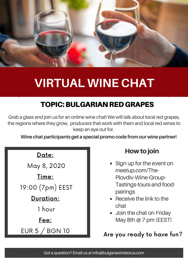 virtual wine chat with bulgaria wine tours