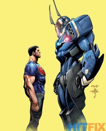 Superman de-powered and Jim Gordon as Batman