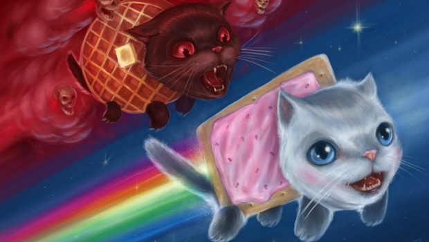 If Only There Were An 8 Bit Nyan Cat Game By Konami
