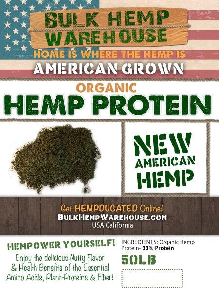 43% Organic Hemp Protein Bulk Wholesale - 50lbs