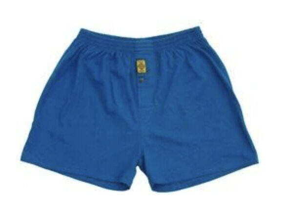 Hemp Organic Cotton Men's Boxers - Blue