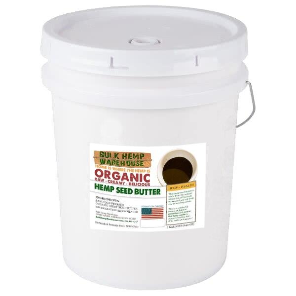 5 Gallon Organic Hemp Seed Butter in Bulk