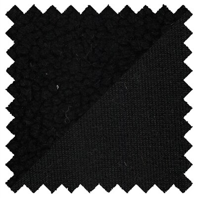 Hemp Recycled Poly Sherpa Fabric Per Yard 10oz - Black