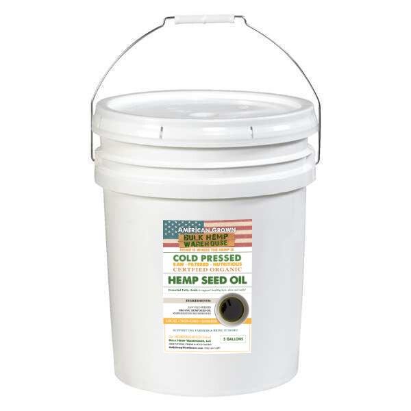 Organic Hemp Seed Oil - 5 Gallon Bucket
