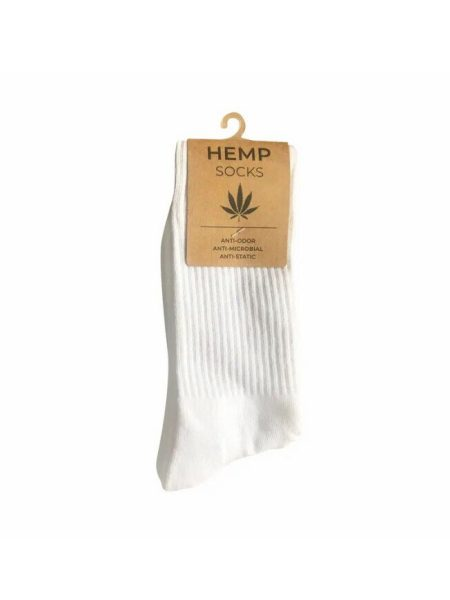 White Hemp Crew Socks