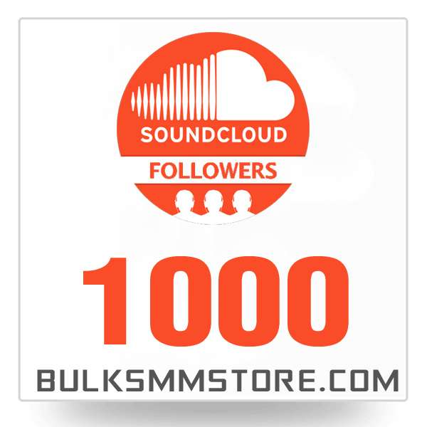Real 1000 Soundcloud Followers