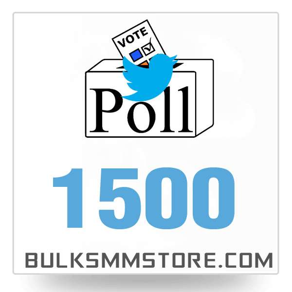 Real 1500 Twitter Poll Votes
