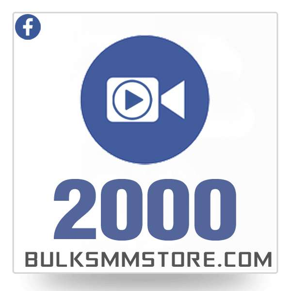 Real 2000 Facebook Video Views