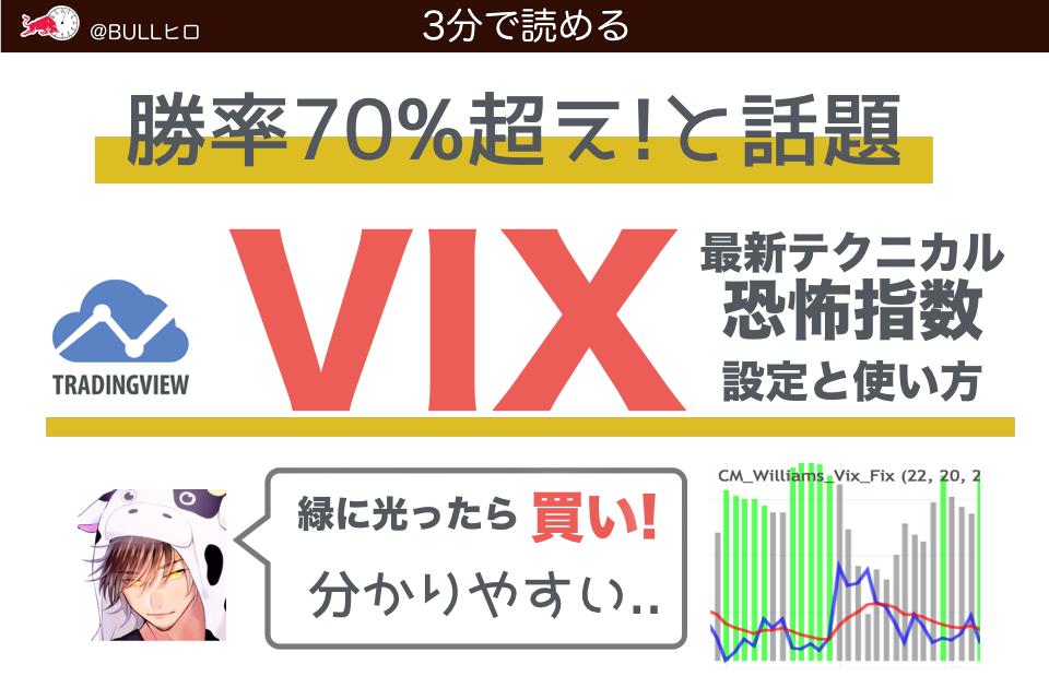 勝率70%! VIX戦術設定と使い方_TradingViewトレーディングビュー登録