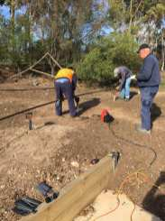 The first of the rail for the raised track