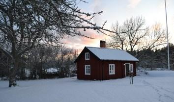 Bagarstugan i vinterskrud