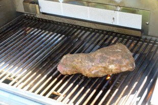 Place tri tip over direct heat and sear