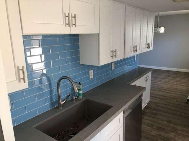 Colored tile backsplash Arizona