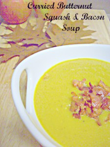 Curried Butternut Squash and Bacon Soup