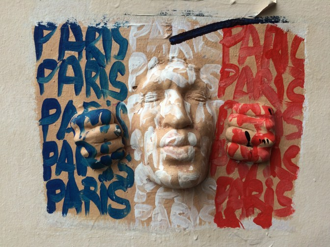 This guy's face was all over Paris