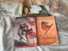 Mes livres apportés pour des dédicaces !