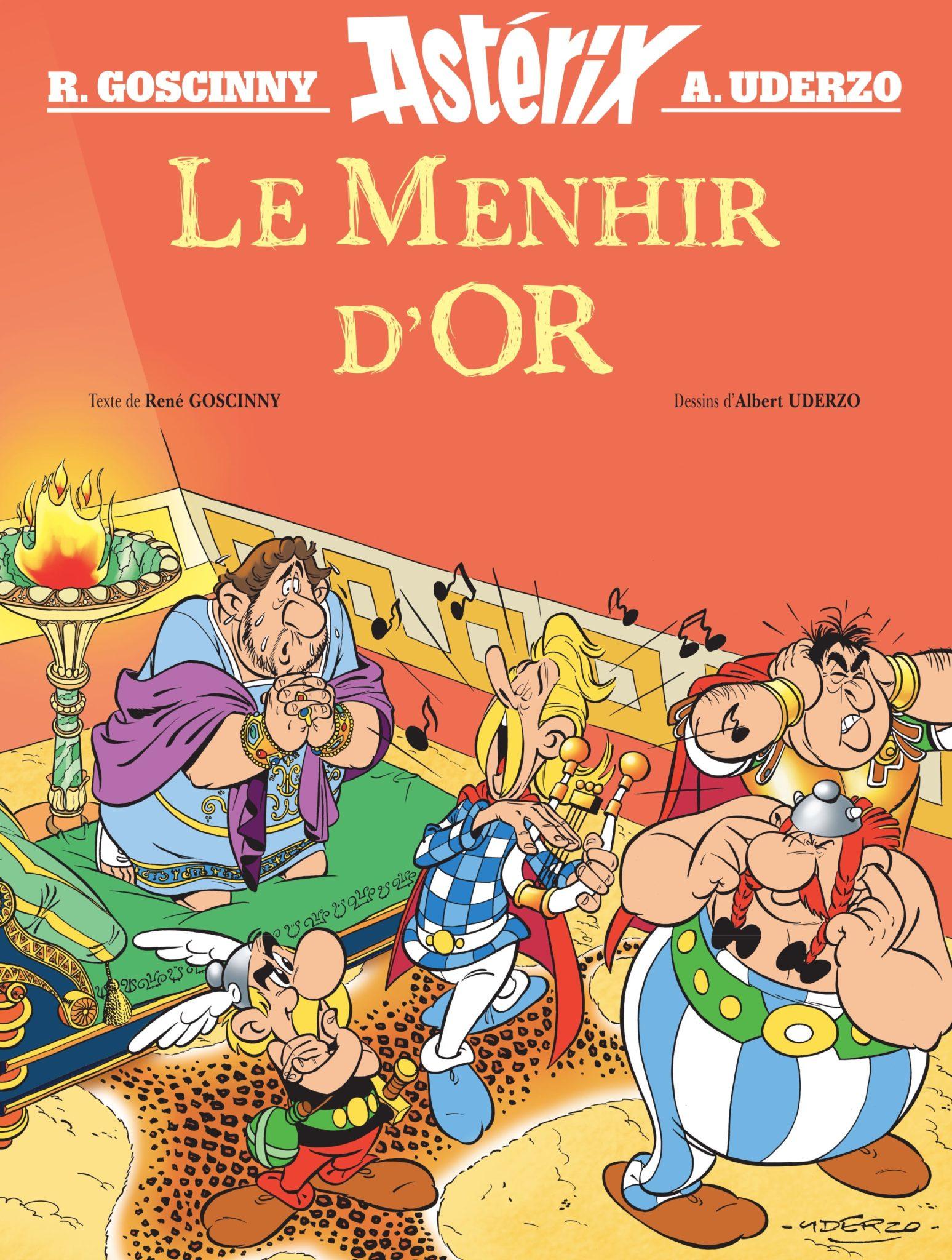 Astérix - Le Menhir d'or de René Goscinny et Albert Uderzo couverture BD