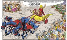 Asterix and the Chariot Race image the masked Auriga