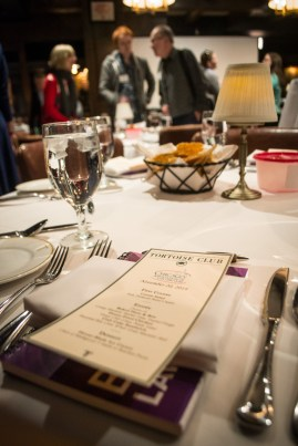 Tortoise Club menu at November 2014 CALL Business meeting