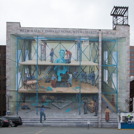 A People's Progression Toward Equality mural
