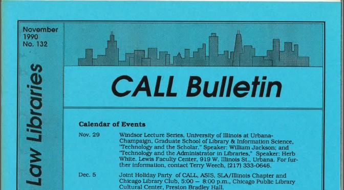 Bulletin November 1990 issue
