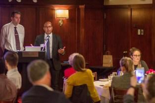 Marlon Lutifiyya speaking at CALL May 2019 Business Meeting