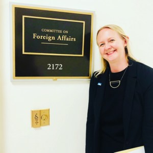 Heidi Kuehl at the Committee on Foreign Affairs office in Congress for AALL Lobby Day