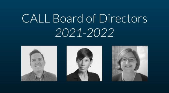 Congratulations to the Incoming Board Members