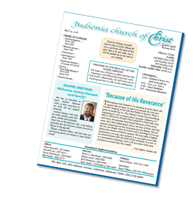 free church bulletin articles