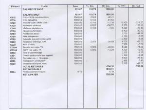 fiche de salaire 2016