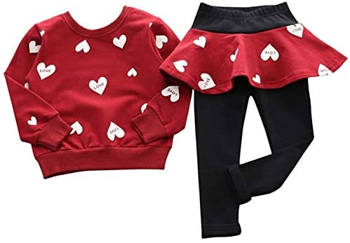 Adorable Toddler Baby Girls Outfits Long Sleeve T-Shirt Pants Fall Clothes Kids Children Tops Dress Set