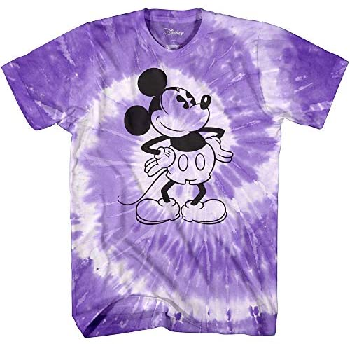 Mickey Mouse Classic Tie Dye Vintage Disneyland World Adult Tee Graphic T-Shirt for Men Tshirt Apparel Clothing