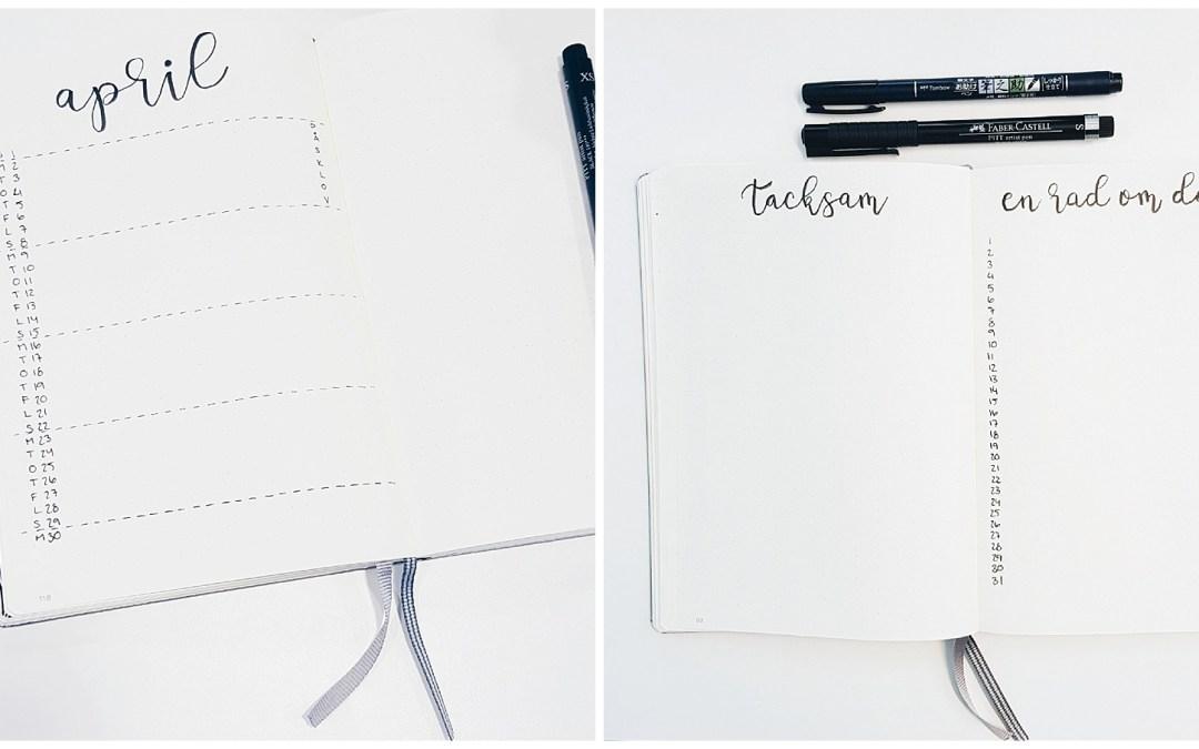 Min Bullet journal resa – Gästinlägg av Madeleine