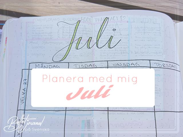 Planera med mig – Juli #1