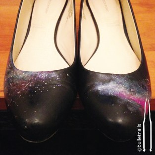 galaxy shoes | @bulletnails